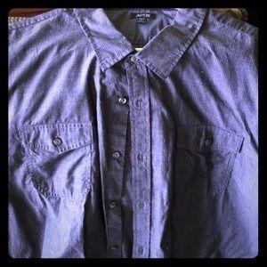Men's 3xlt short sleeves, gray